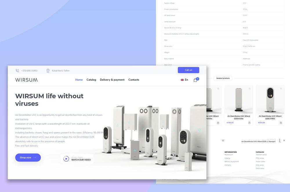 🌬 Сайт для продажи рециркуляторов